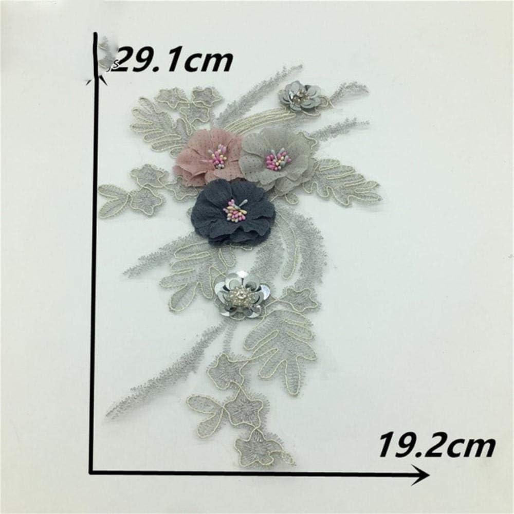 DACCU - Moderno cuello de perlas de plástico ABS, bordado, para ...