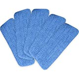 "Tangkula 5 Pack Microfiber Mop Pads Head Wet Dry Mops Refill for 15"" Flat Mop Base Blue"
