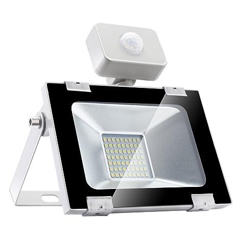 Sararoom 30W Foco LED Exterior,Con Sensor Movimiento Proyector LED ...