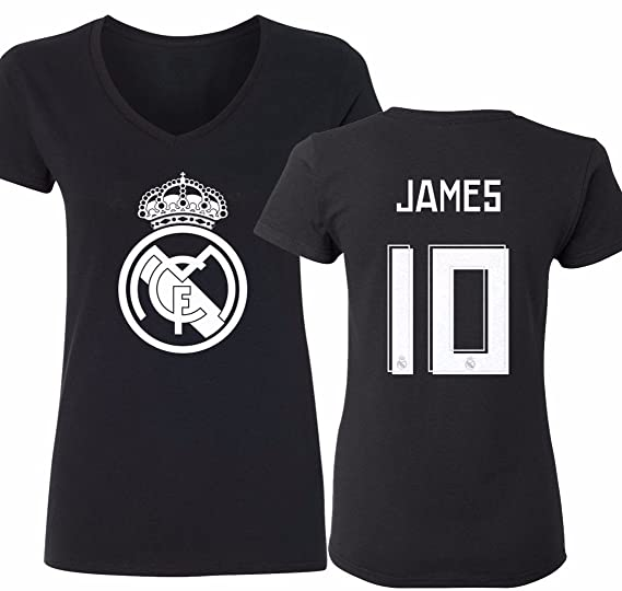 best loved 186b0 4fa3d Tcamp Real Madrid Shirt James Rodriguez #10 Jersey Womens V ...