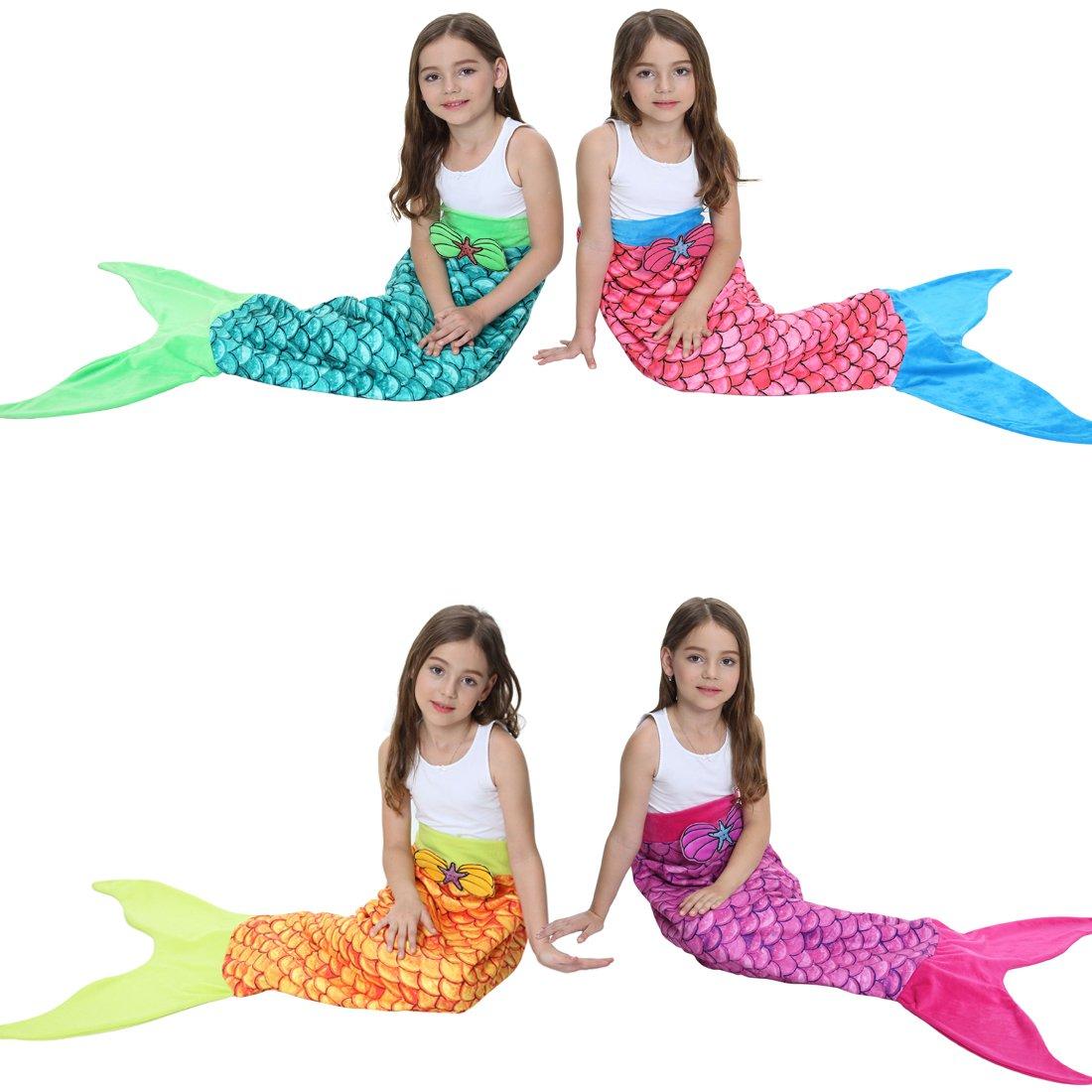 Manta de Cola de Sirena con Escamas de Brillantes, Manta de para los ...