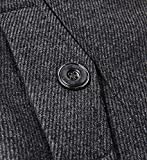 chouyatou Men's Winter Stylish Wool Blend Single