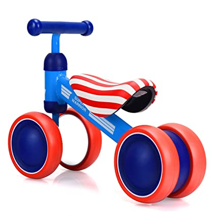 fe41114eabf KCHEX>>>4 Wheels Kids Balance Bikes No Pedal Children Walker Toys 18-