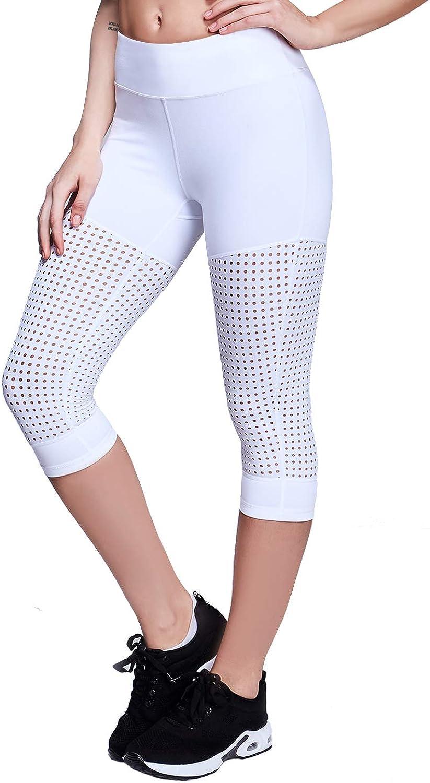 Matymats Yoga Pants Capris with Pockets for Women High Waist Workout Lounge Leggings