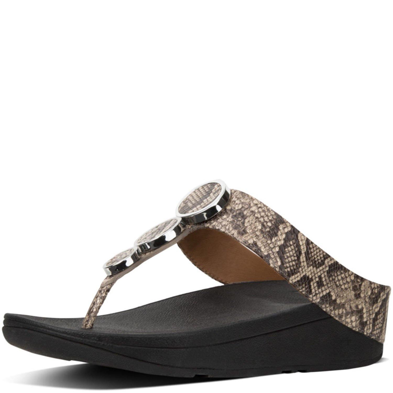 FitFlop Trade; Womens Halo Toe Thong Sandals Taupe Snake Size 7 by FitFlop