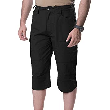 FREE SOLDIER Männer Tactical Shorts 3 4 Cropped Hose Multi-Taschen Baumwolle  Cargo Pants f28022b937