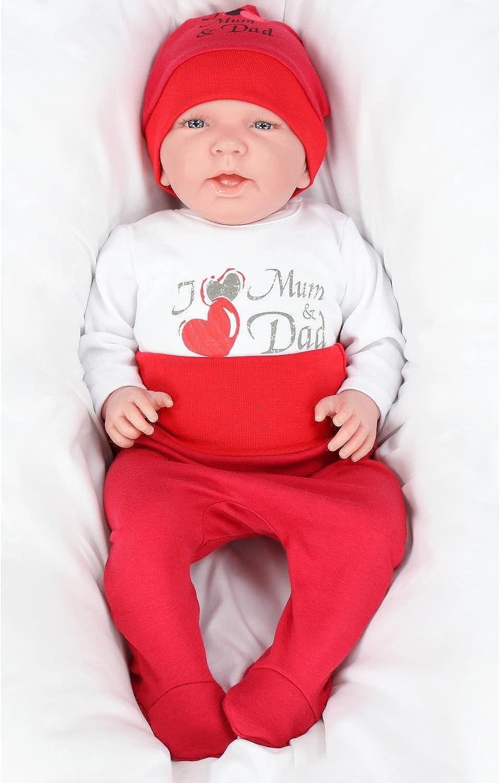 TupTam Baby Unisex Bekleidungsset mit Aufdruck 3 TLG.