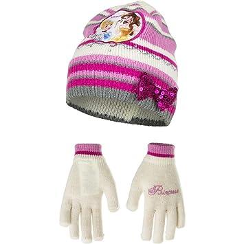 Disney Princess Girls Hat + Gloves Set One Size 2 - 5 Years  Amazon ... 61db5d5166df