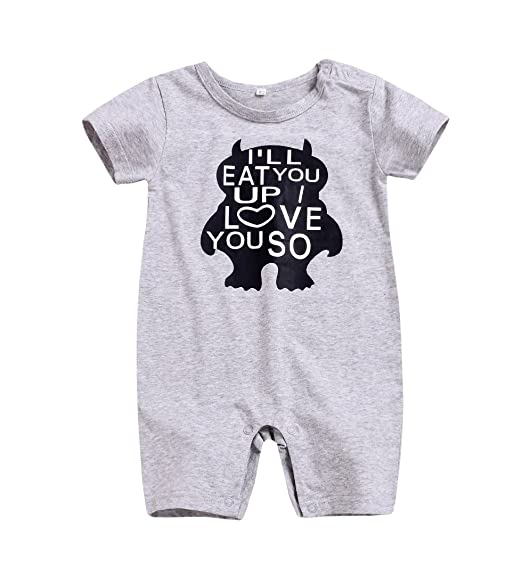 9f848af2164f Amazon.com  Infant Toddler Baby Boy Romper Summer Jumpsuit Short ...