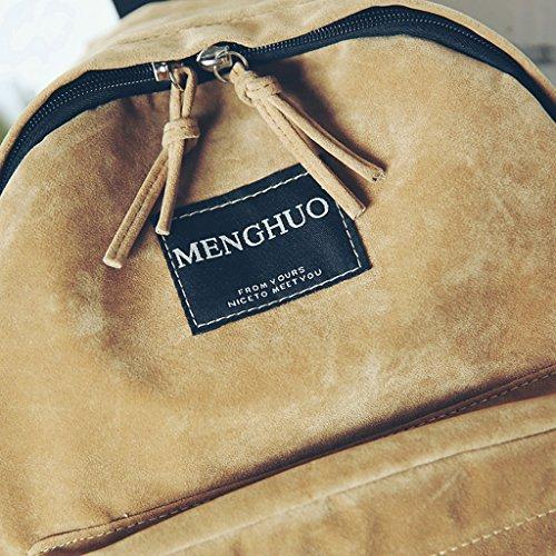 Bags for Labeling Shoulder Color Shopping Girls Female Backpack Black Travel Rucksack School Letter Solid Backpack Bag Knapsack Suede Vintage GUBENM qwSWzUER6z