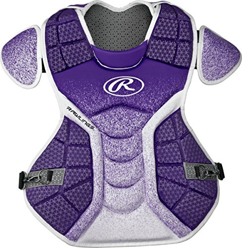 Rawlings Sporting Goods Catchers Velo Series Intermediate Chest Protector, 15.5'', Purple/White by Rawlings