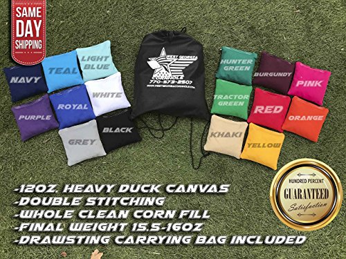FREE SHIPPING! Set of 8 Premium Corn Filled Cornhole Toss Bags