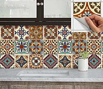 Tile Stickers Spanish Mexican Mix for kitchen or bath or floor Tr003