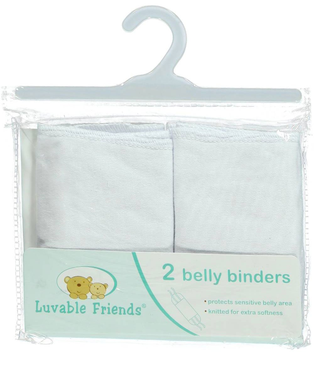 Luvable Friends 'Belly Up' 2-Pack Belly Binders - white, one size 10134540_White