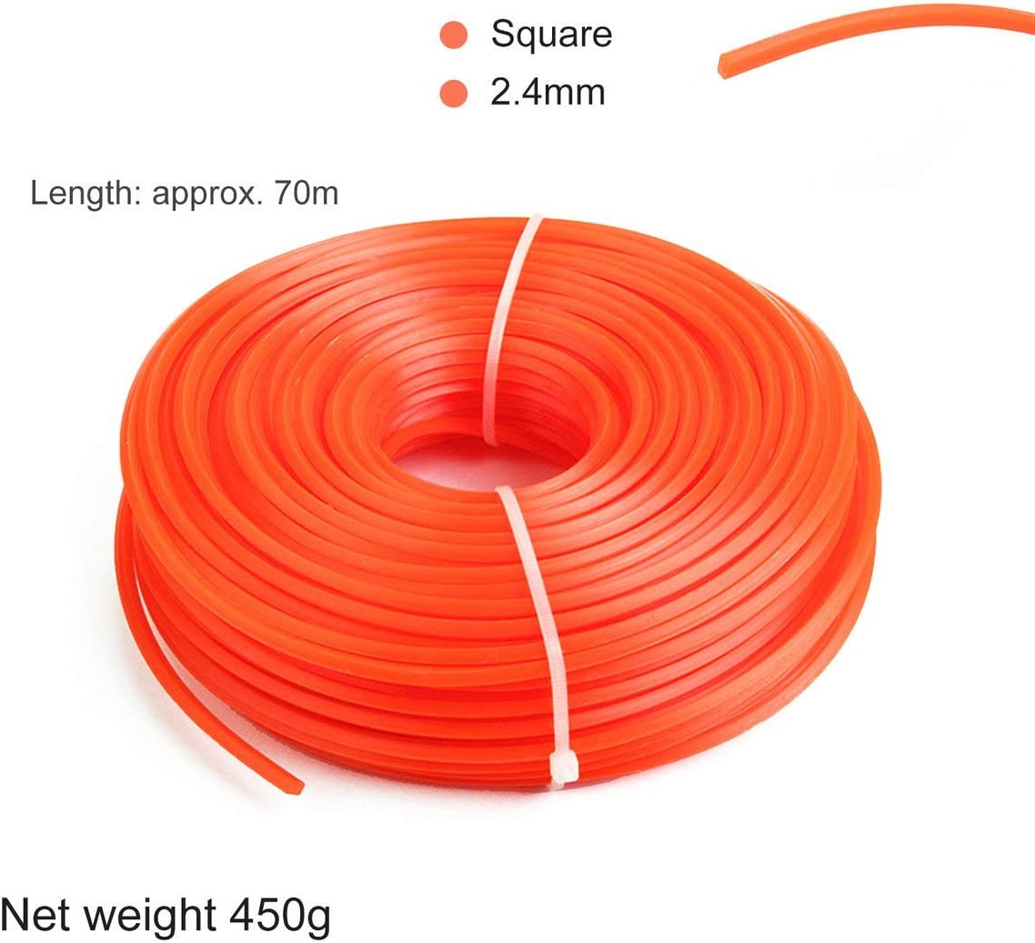 Red ngzhongtu 2.4mm Trimmer Line Strimmer Brushcutter Cord Cord Line Long Round Roll Square Grass Rope Line For Lawn Mower Trimmer 2.4mm