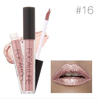 TraveT TraveT Waterproof Sexy Metallic Glitter Makeup Liquid Lipstick Gloss Matte Makeup Cosmetic