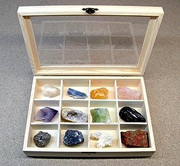 Mineral Import - Caja de Madera con 12 separadores para Piedras Piedras No Incluidas: Amazon.es: Hogar