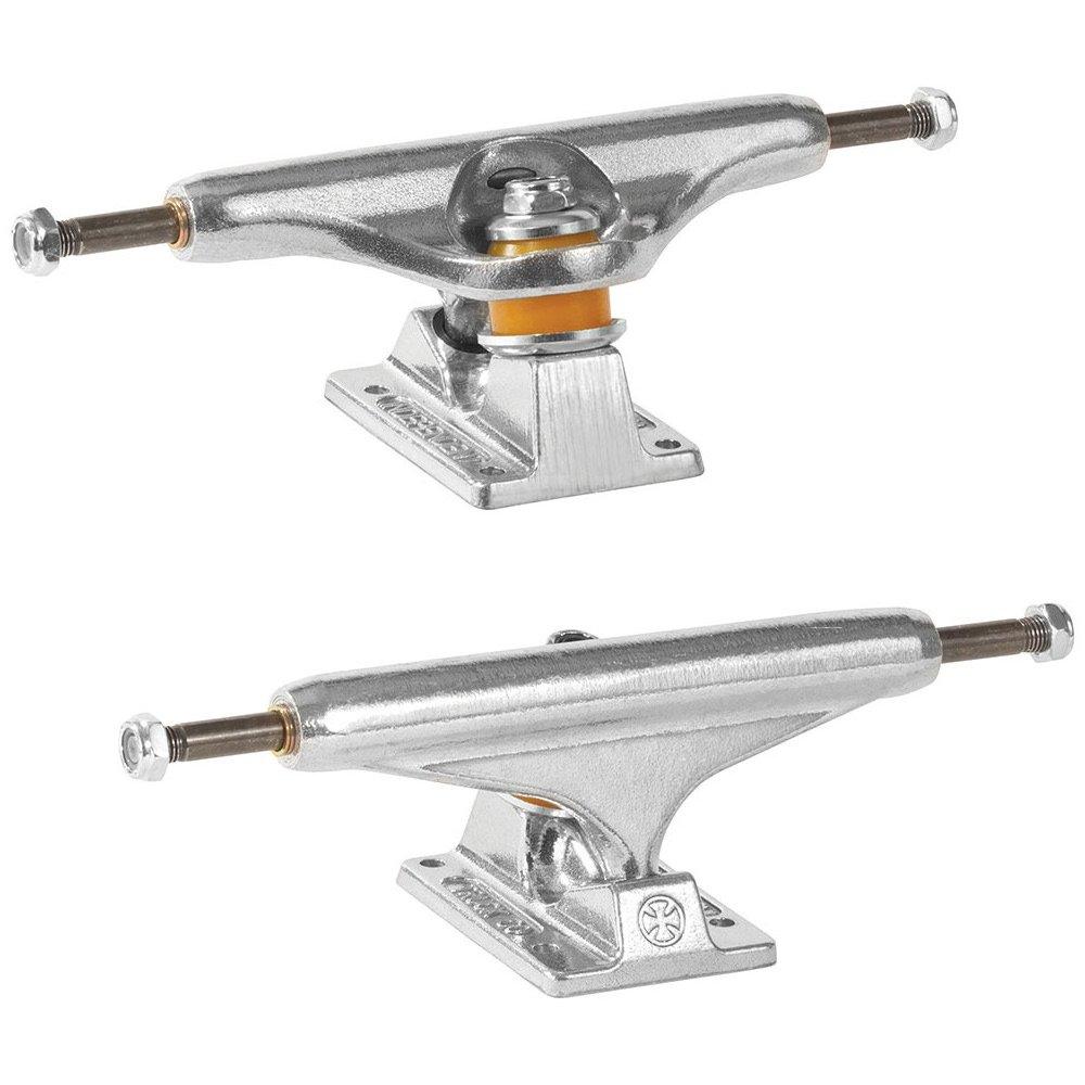 Independent Skateboard Trucks Stage 11 Bar Cross Set Of 2 Trucks (Polished Silver, 139mm) by Independent