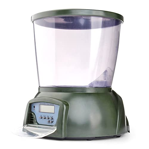 Flexzion Programmable Automatic Pond Fish Food Feeder