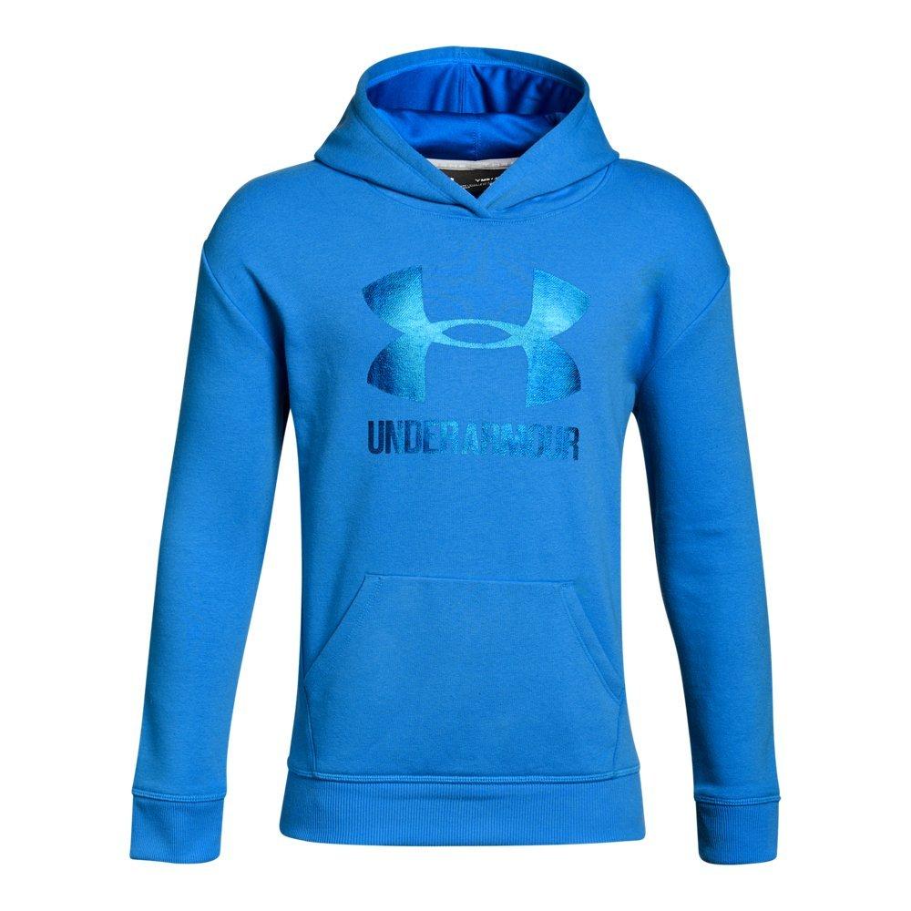 Under Armour Girls Threadborne Fleece Hoodie,Mako Blue /Lapis Blue, Youth Small