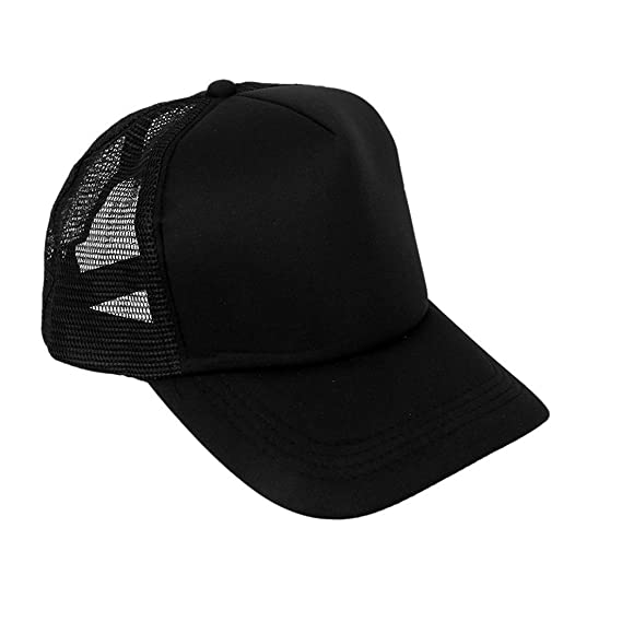 Michelangelo Half Fabric Half Net Caps For Men s Womens Girls Boys Baseball Cap  Hip Hop Caps Plain Cap (Black)  Amazon.in  Clothing   Accessories faecb76c222a