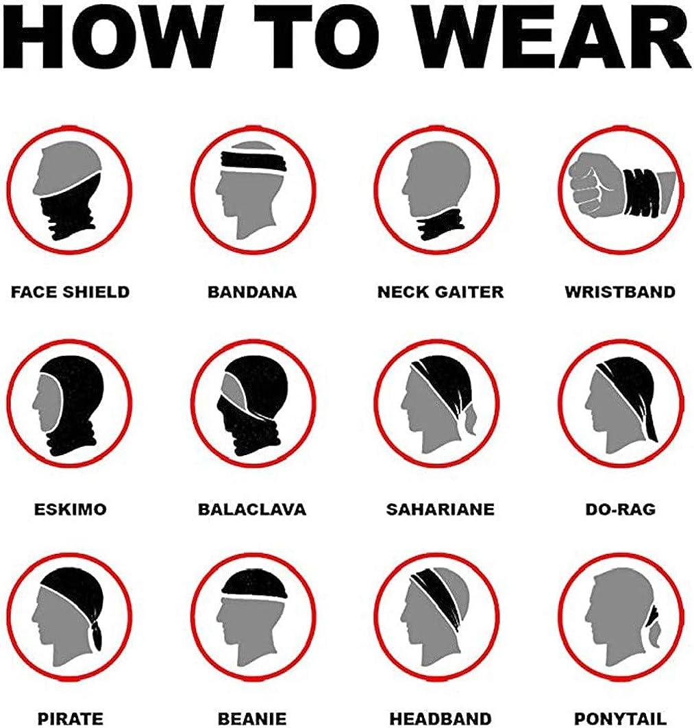 4pcs Unisex Kopftuch Multifunktions Nahtlose Bandana 3D Cool Halstuch Multifunktionale Kopfbedeckung Bedrucktes Stirnband Schal Sport Headwrap Tube Bandanas f/ür Sport /& Outdoor Camping /& Wandern