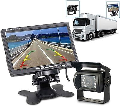 4 Pin CCD Bus Truck Trailer IR Night Vision Car Rear View Reverse Camera 12V-36V