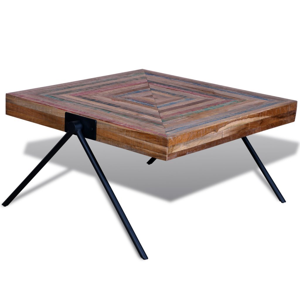 Reclaimed Teak Coffee Table.Festnight Square Coffee Side Table Solid Reclaimed Teak Wood Handmade For Home Office Living Room Furniture Decor