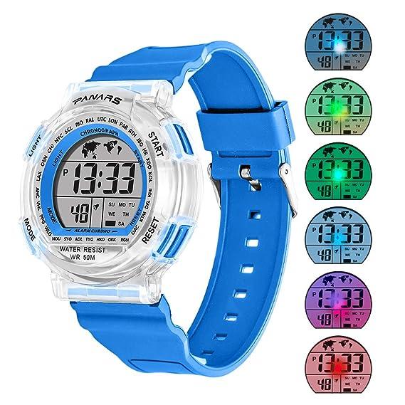 f7c940ebe Kids Sport Digital Watches, Boys Girls Outdoor 50m Waterproof Electrical  Wristwatch with Alarm Stopwatch Reminder