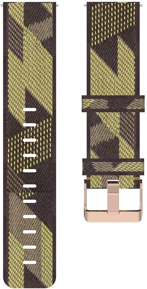YHMC JSFC ATT 20 mm Stripe Weave Nylon Poignet Bracelet Bande for Huawei GT 2 42mm / Honor Magique Montre 2 42mm (Gris) (Color : Purple) Yellow