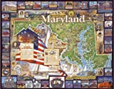 White Mountain Puzzles Historic Maryland - 1000 Piece Jigsaw Puzzle