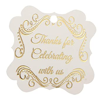 adcbc8d0c572 Amazon.com  Thank You Tags Gold Foil