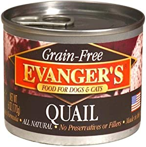 Evangers Grain-Free Quail for Dogs & Cats 6 Oz