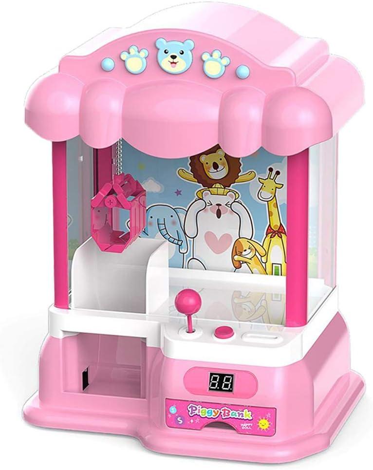 Claw Machine Playset Mini Clip Doll Machine Niños Doll Grabber Machine Máquina de Juego con Monedas Regalo de Fiesta de cumpleaños para niños, 24 Bolas, 10 muñecas, 20 Monedas de Juego