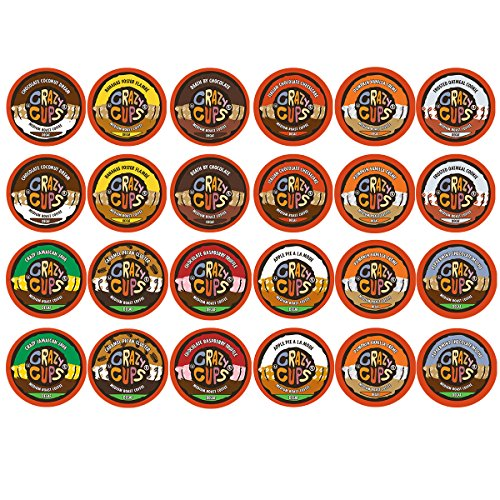 Crazy Cups Decaf Flavor Nation's Selection and Flavored Lovers Coffee Single Serve Cups for Keurig K Cups Brewer...