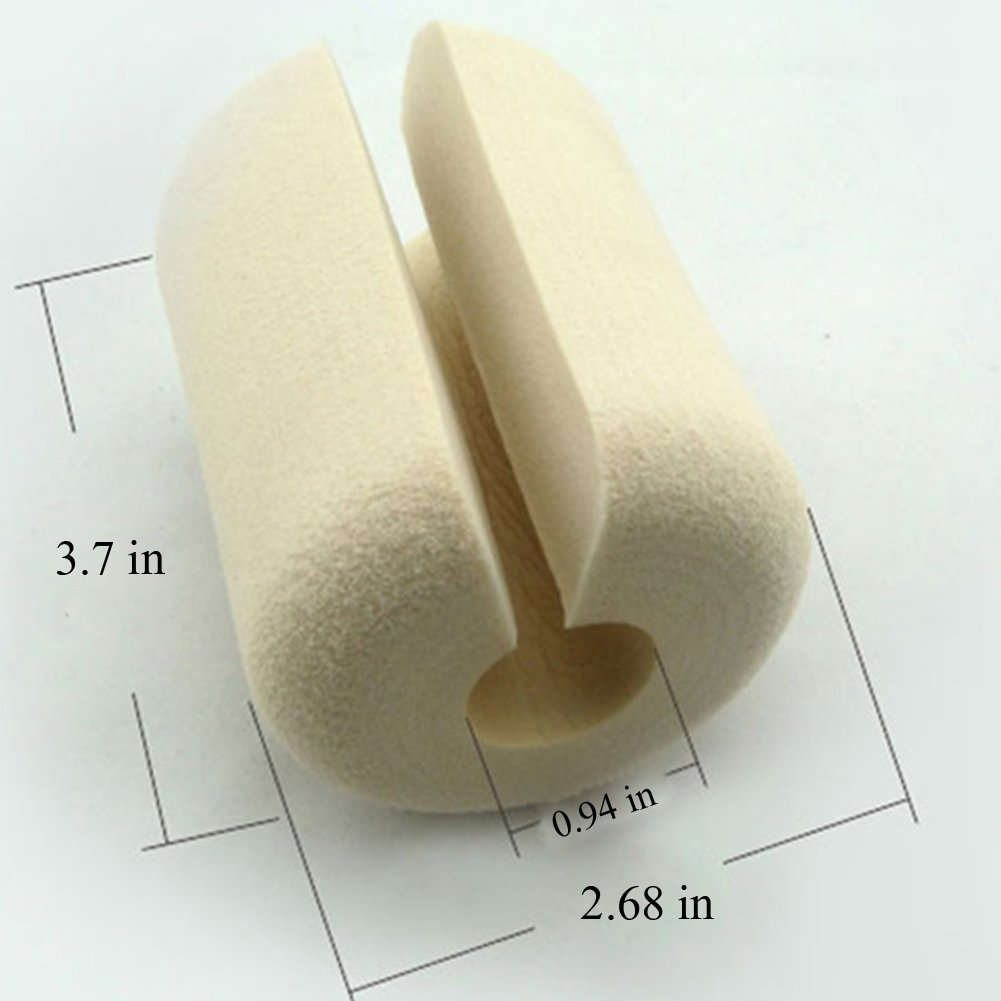 Olpchee NBR Hand Finger Pinch Guard Door Stopper Indoor Baby/Child Safety Product Door Protector, Set of 4 (Beige) by Olpchee (Image #2)
