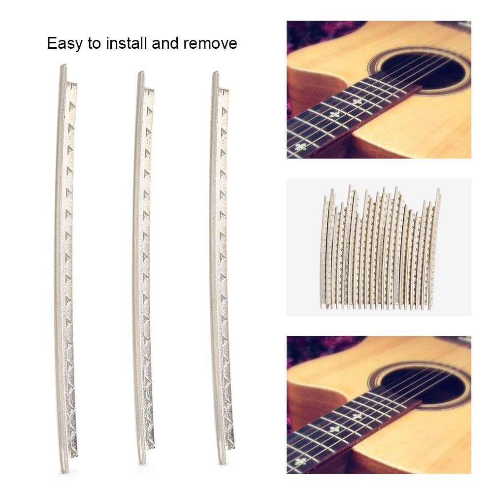 20pcs guitarra Fretwire 2/mm cobre guitarra Trastes alambre conjunto para Folk Guitarra