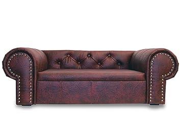 Edy Diseño ED de ohdr2 Perros sofá Cama para Perros Ohio New Chesterfield Fabricado a Mano, XL, Color Rojo Oscuro: Amazon.es: Productos para mascotas