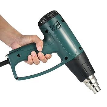 KKmoon Alta calidad LCD digital controlada por temperatura eléctrica pistola de aire caliente pistola de calor conjunto de herramientas con 4 unids ...