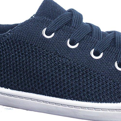 Soda Gummisula Mjuk Bekväm Duk Virka Vävda Elastisk Platt Sneaker Svart