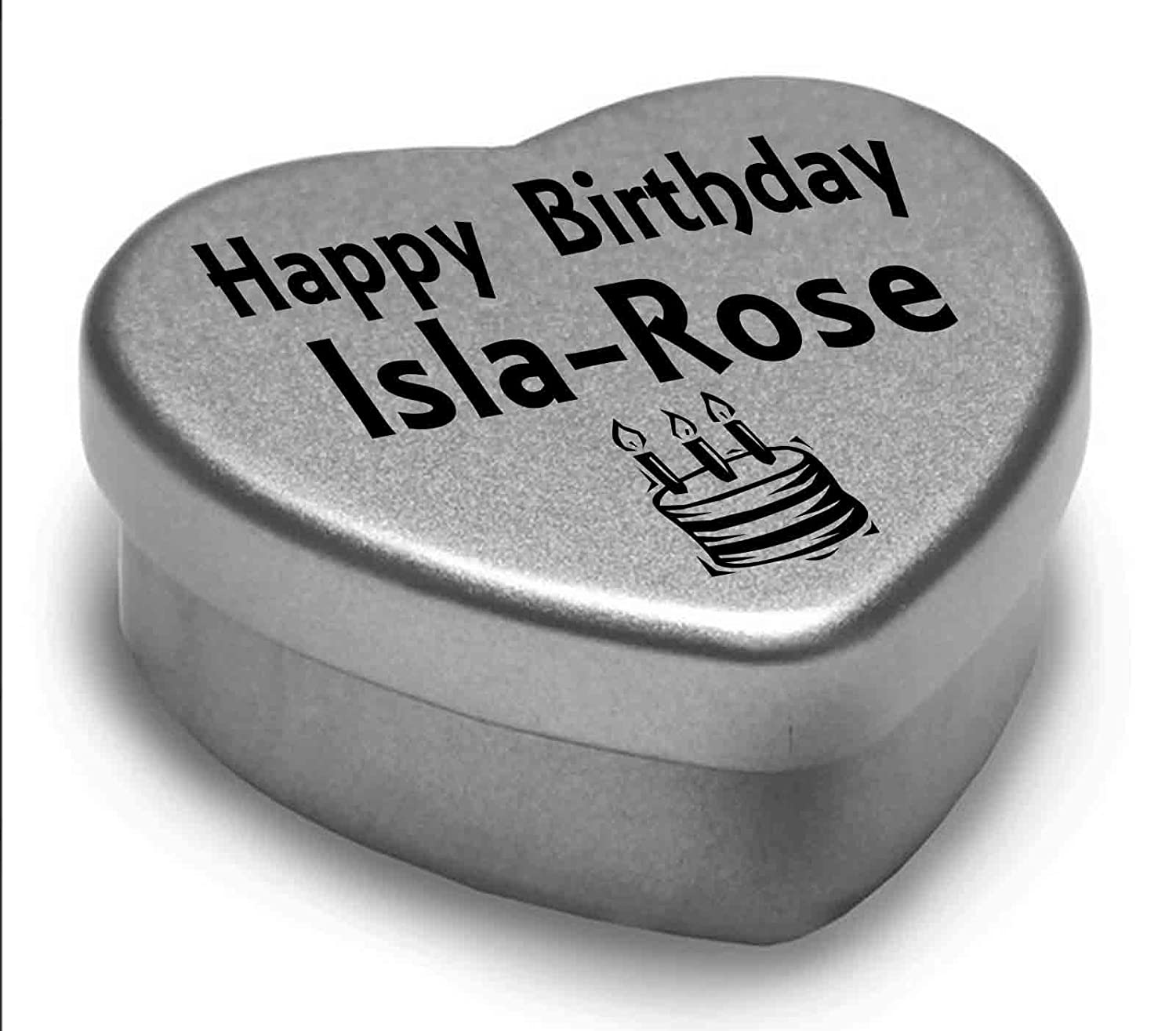 I Love You Rosie Mini Heart Tin Gift For I Heart Rosie With Chocolates