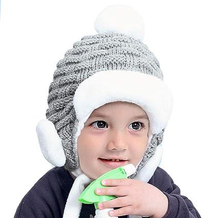 Bebé Niño Niña Gorros, Sombrero de Algodón Gorro Infantil de Punto ...