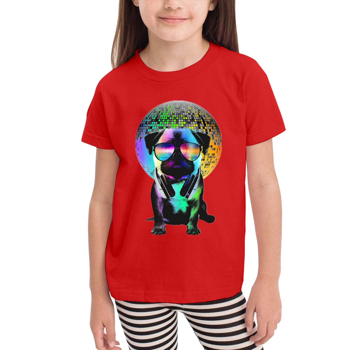 Onlybabycare Disco Pug 100/% Cotton Toddler Baby Boys Girls Kids Short Sleeve T Shirt Top Tee Clothes 2-6 T