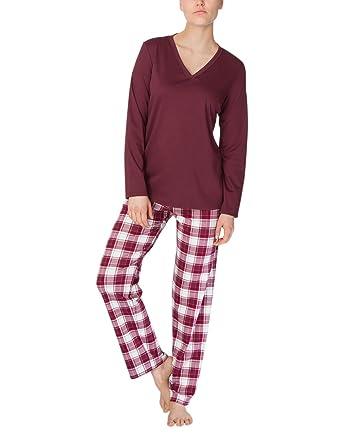 fa79f5913e Calida Zweiteiliger Schlafanzug Greta Damen Pyjama: Amazon.de: Bekleidung
