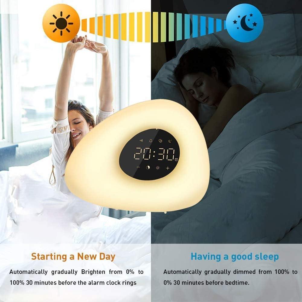 Wake-Up Light Digital Alarm Clock with Sunrise Simulation - easeable.com