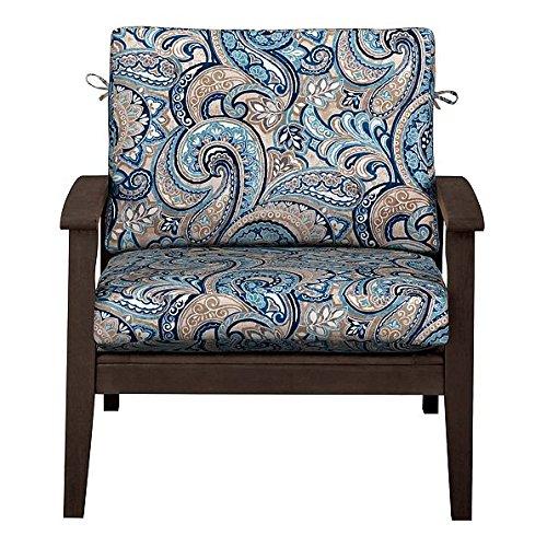 Outdoor Patio Deep Seat Relaxed Chair Cushion Set Seasona...