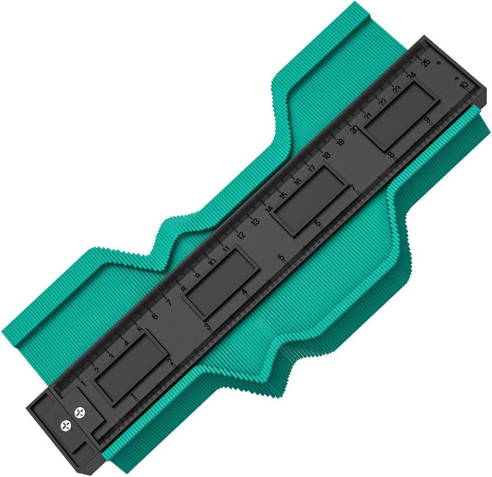 2 Pcs Easy Outline Gauge 5 and 10 Contour Duplicator Gauge for Wood Marking and Shape Measuring Contour Gauge