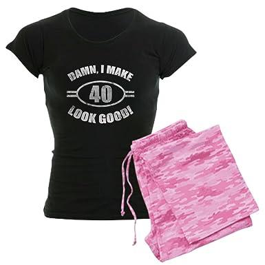 3a5207bab CafePress - Damn Funny 40Th Birthday - Womens Novelty Cotton Pajama Set,  Comfortable PJ Sleepwear