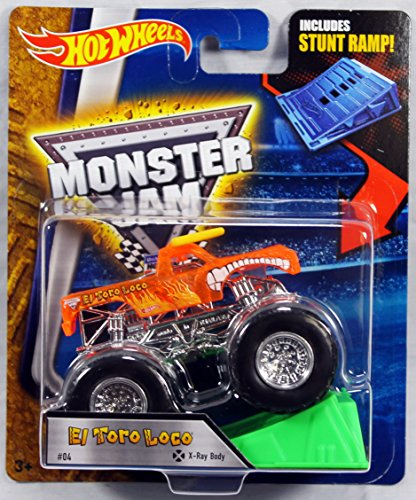 Hot Wheels Monster Jam 1:64 Scale - El Toro Loco with Stunt Ramp #04 Monster Wheel