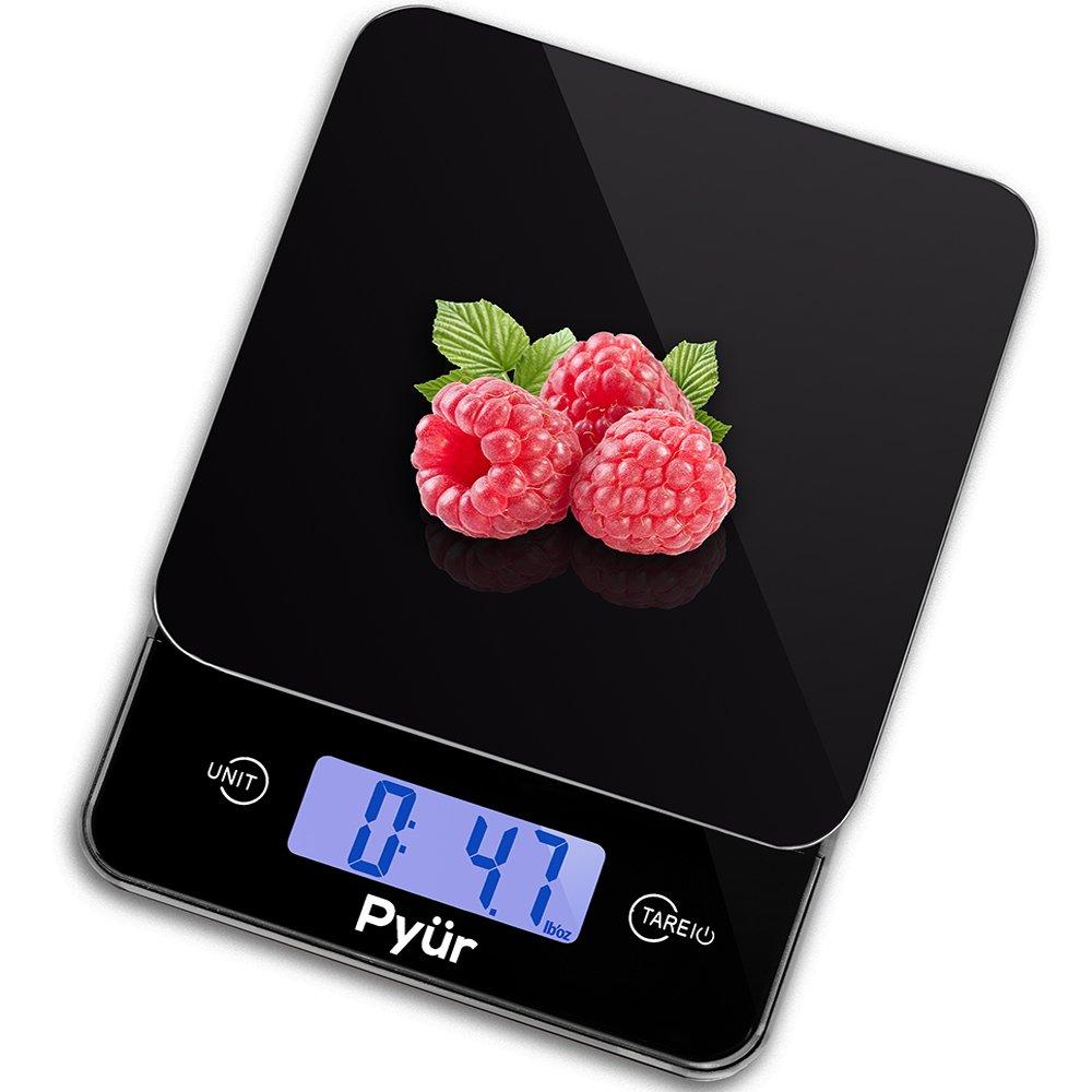 Multifunción Digital de cocina alimentos escala, precisión hasta 11 libras (5 kg) - LCD Display & Tara, vidrio templado: Amazon.es: Hogar